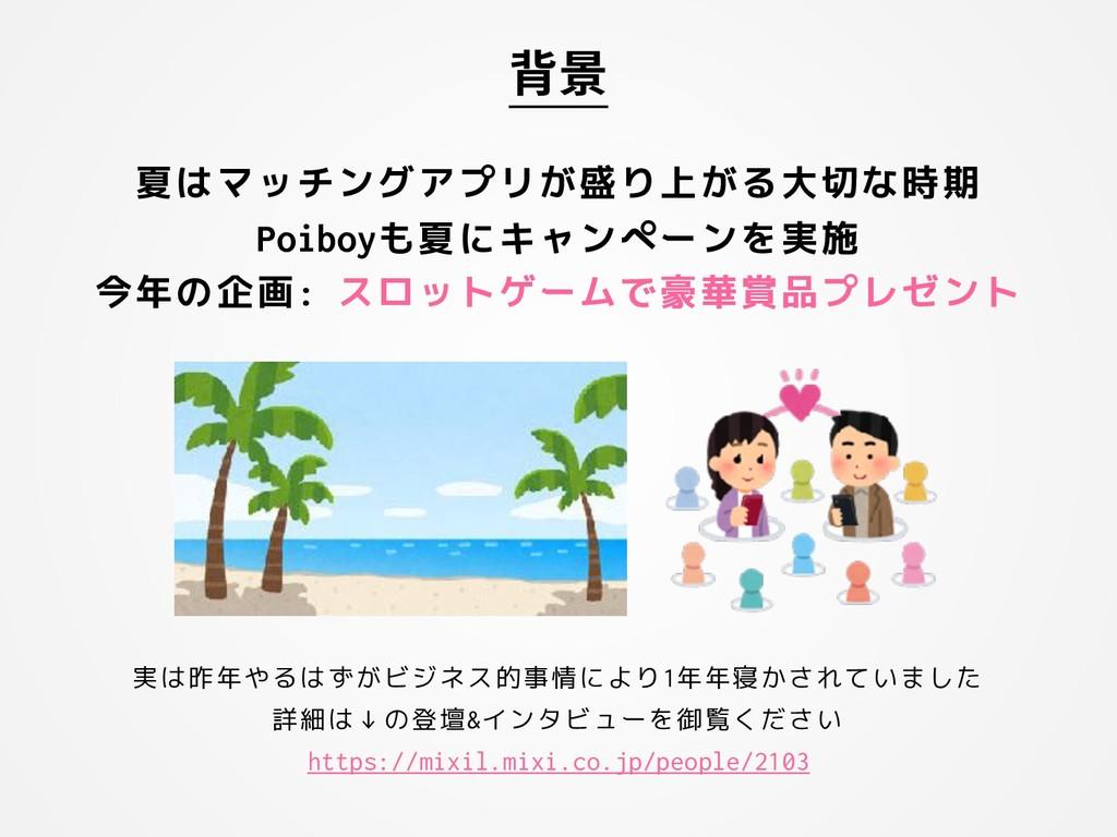 夏はマッチングアプリが盛り上がる大切な時期 Poiboyも夏にキャンペーンを実施 今年の企画:...