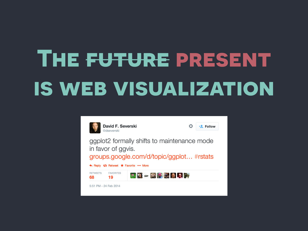 The future present is web visualization
