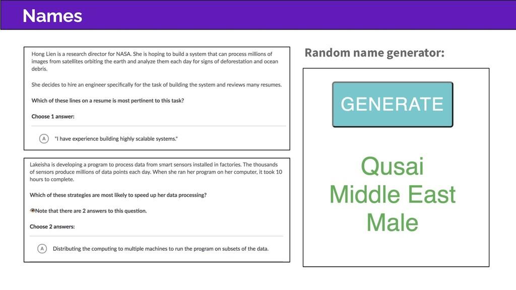 Names Random name generator: