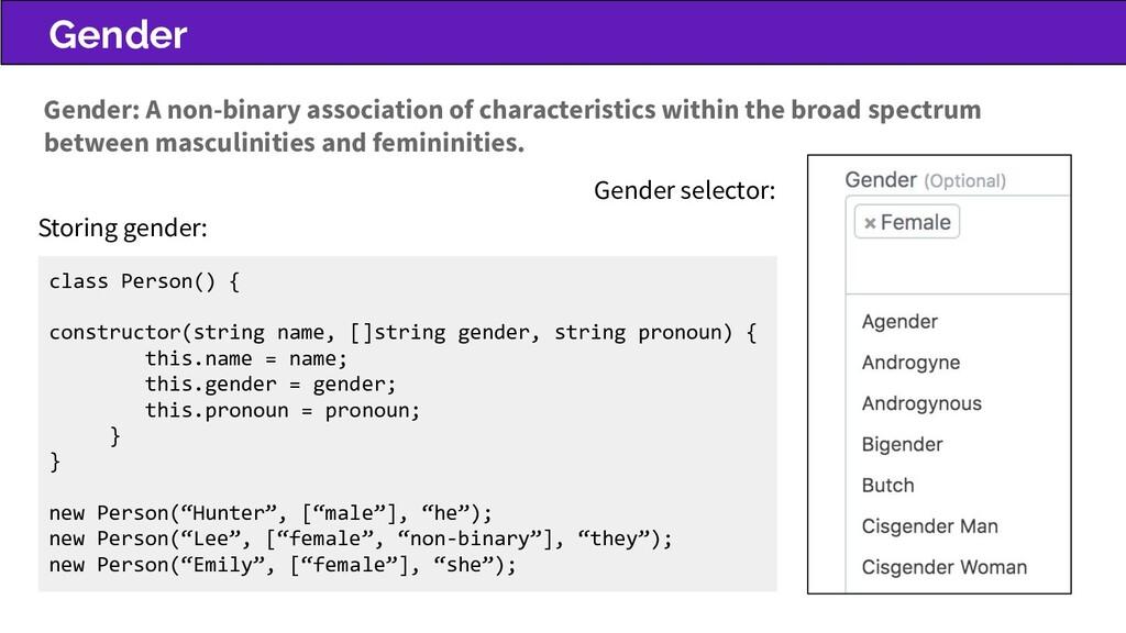 Gender Gender selector: Gender: A non-binary as...