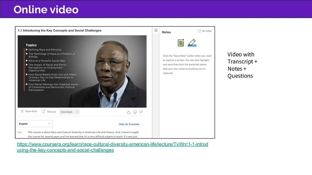 Online video https://www.coursera.org/learn/rac...