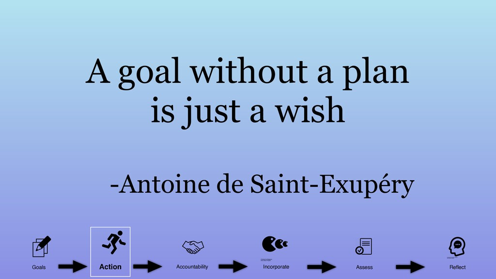A goal without a plan is just a wish -Antoine d...