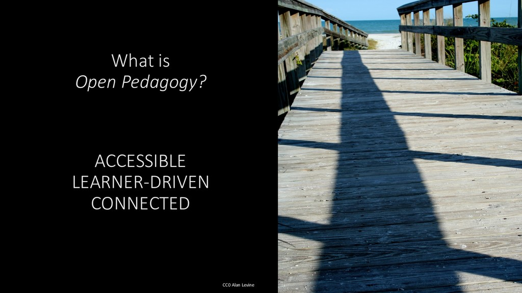 What is Open Pedagogy? ACCESSIBLE LEARNER-DRIVE...