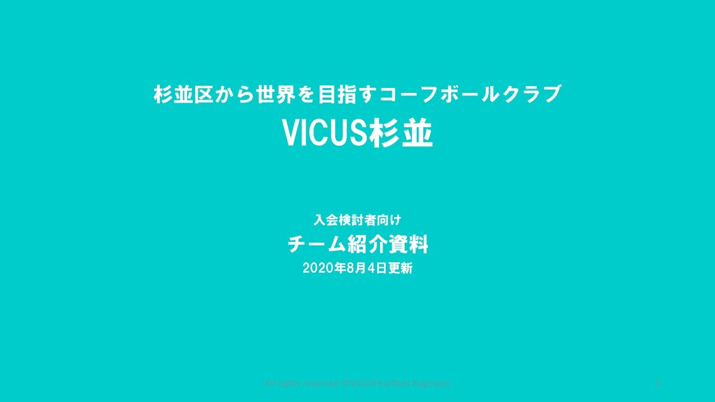 All rights reserved ©︎VICUS korfball Suginami 杉...