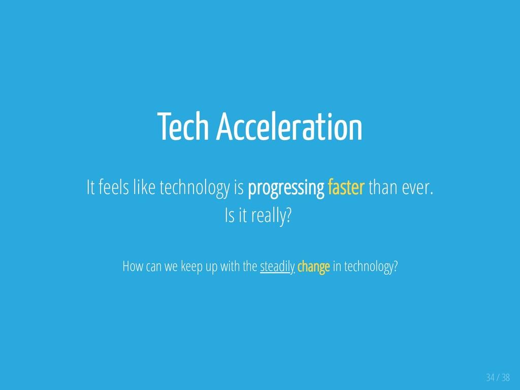 Tech Acceleration It feels like technology is p...