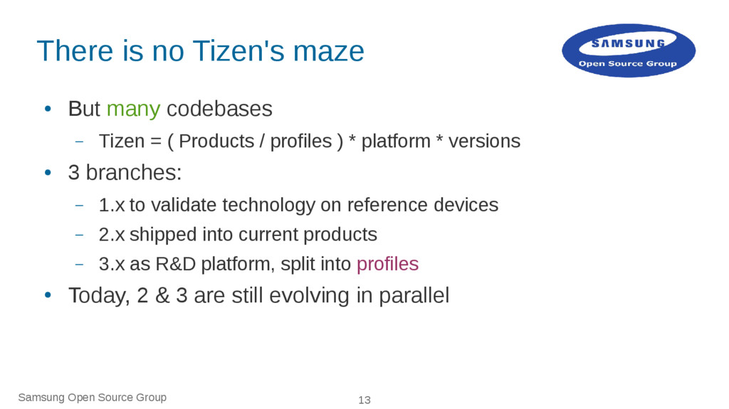 Samsung Open Source Group 13 There is no Tizen'...