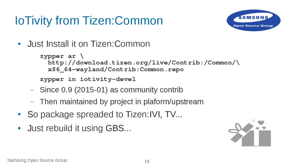 Samsung Open Source Group 16 IoTivity from Tize...