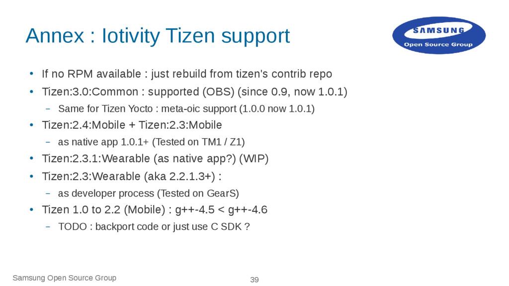 Samsung Open Source Group 39 Annex : Iotivity T...