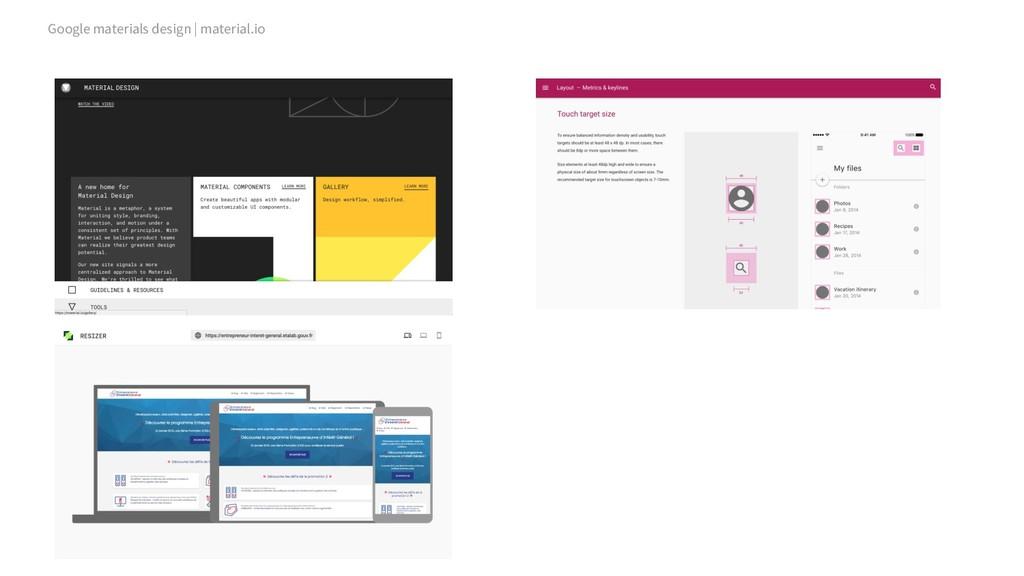 Google materials design | material.io