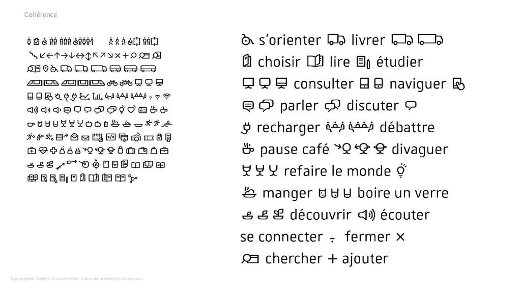 Cohérence Typographie Unistra, Christina Poth, ...