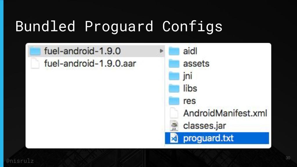 Bundled Proguard Configs 30 @nisrulz