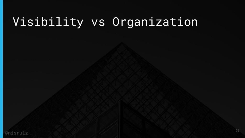 Visibility vs Organization 62 @nisrulz