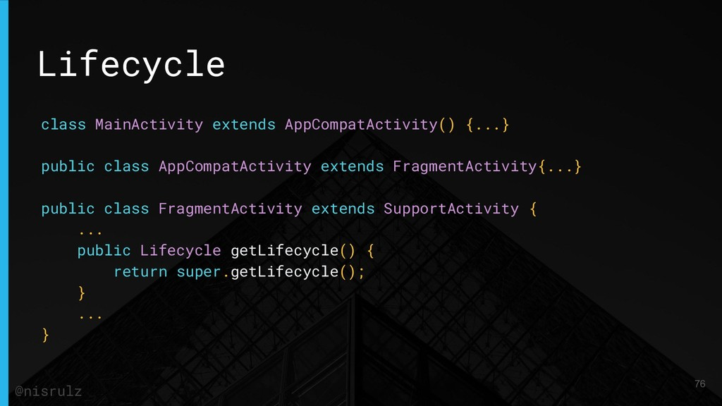 Lifecycle class MainActivity extends AppCompatA...