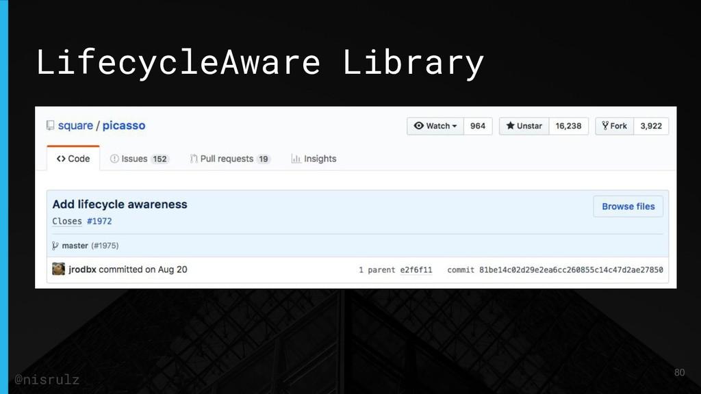 LifecycleAware Library 80 @nisrulz
