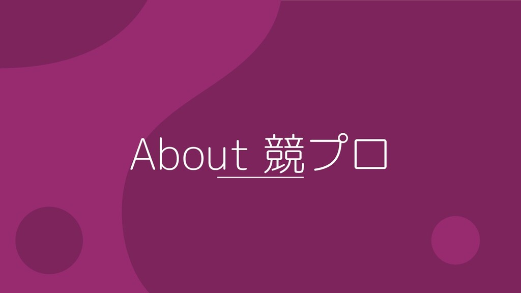 About 競プロ