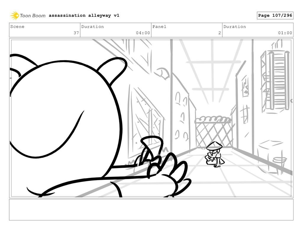 Scene 37 Duration 04:00 Panel 2 Duration 01:00 ...