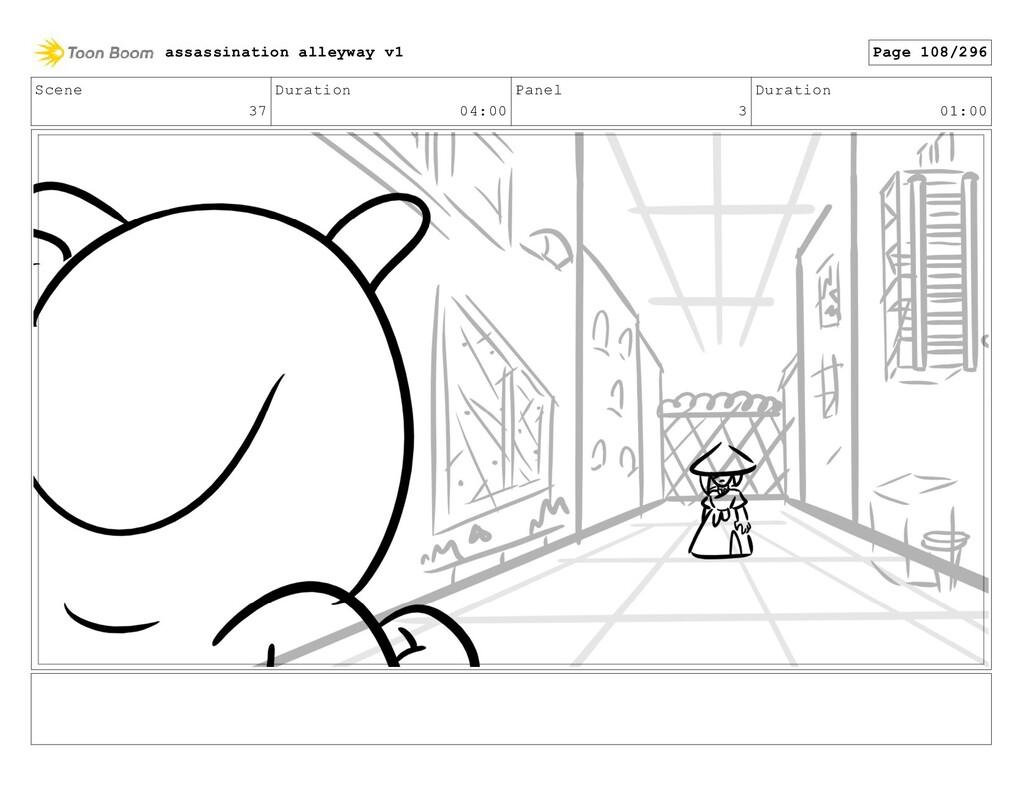 Scene 37 Duration 04:00 Panel 3 Duration 01:00 ...