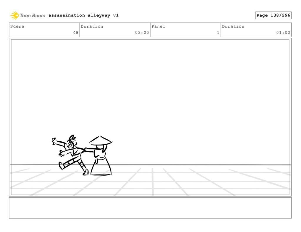 Scene 48 Duration 03:00 Panel 1 Duration 01:00 ...