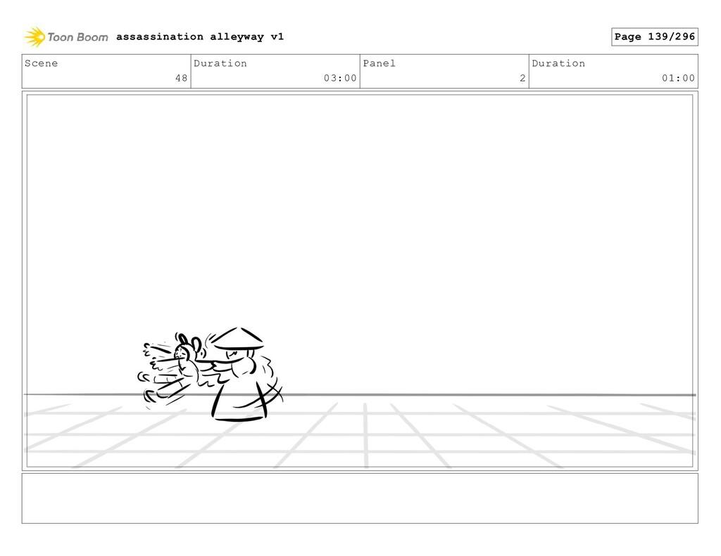 Scene 48 Duration 03:00 Panel 2 Duration 01:00 ...