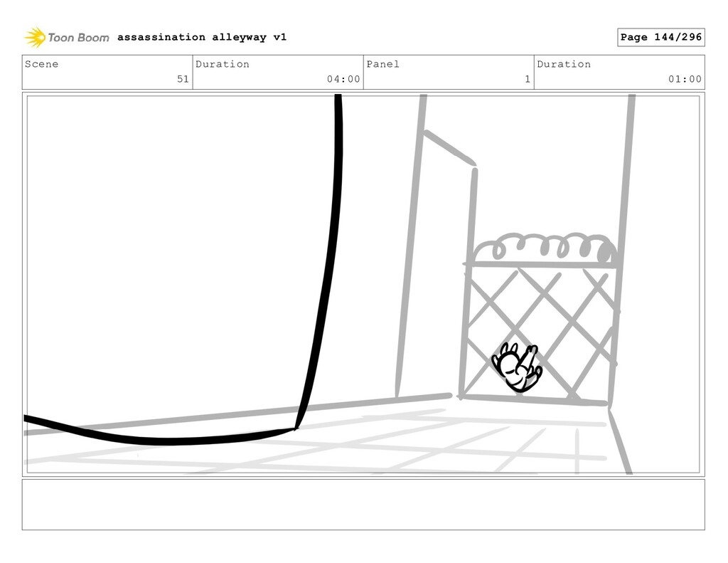 Scene 51 Duration 04:00 Panel 1 Duration 01:00 ...