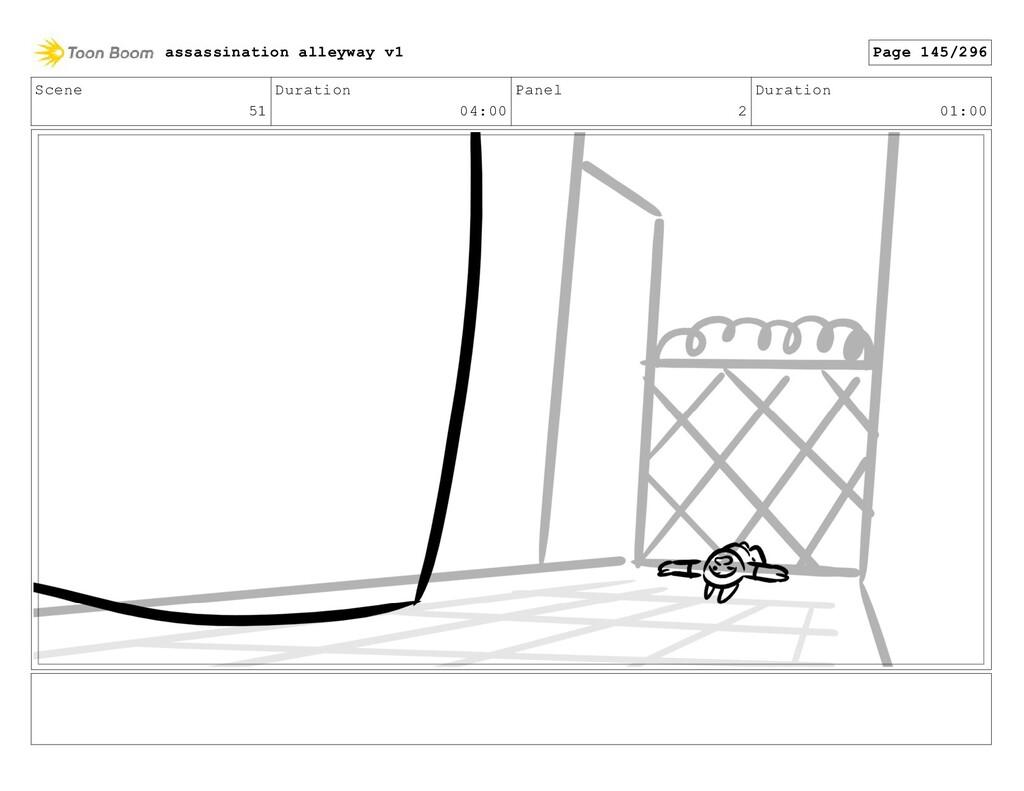 Scene 51 Duration 04:00 Panel 2 Duration 01:00 ...