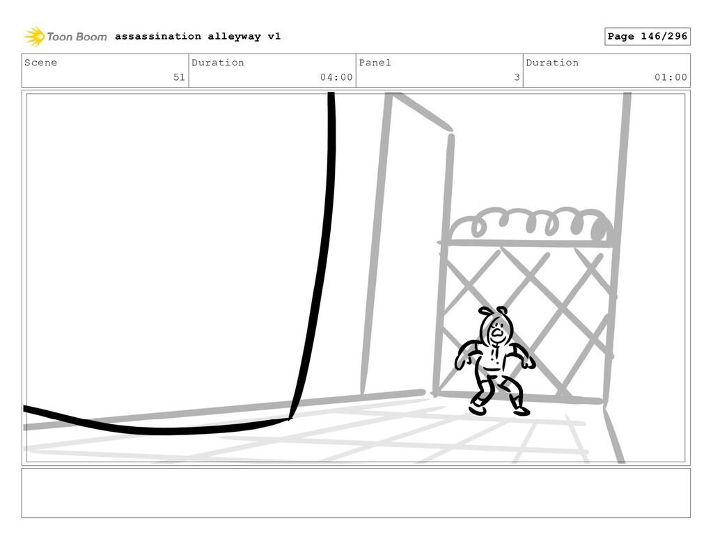Scene 51 Duration 04:00 Panel 3 Duration 01:00 ...