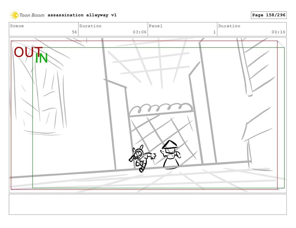 Scene 56 Duration 03:06 Panel 1 Duration 00:16 ...