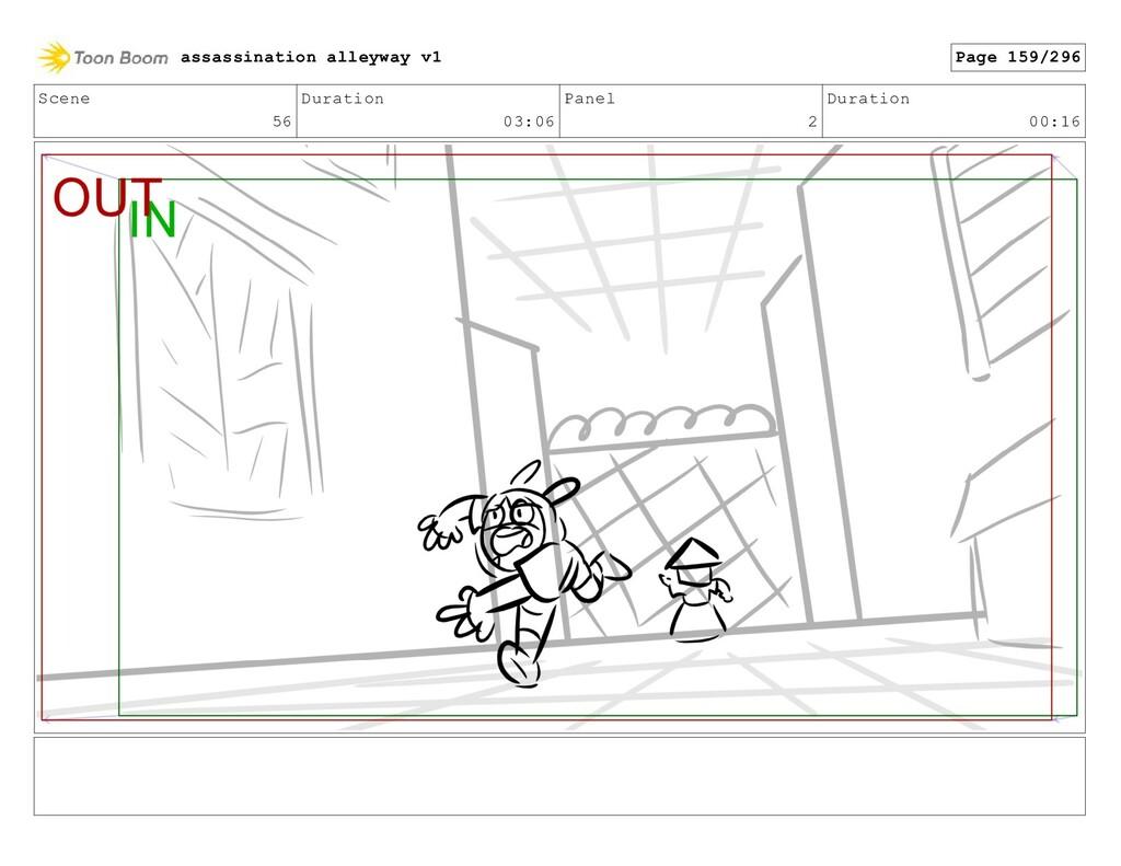 Scene 56 Duration 03:06 Panel 2 Duration 00:16 ...