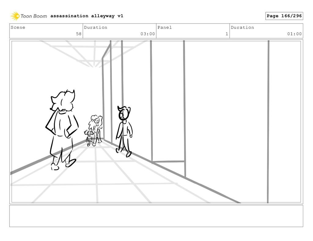 Scene 58 Duration 03:00 Panel 1 Duration 01:00 ...