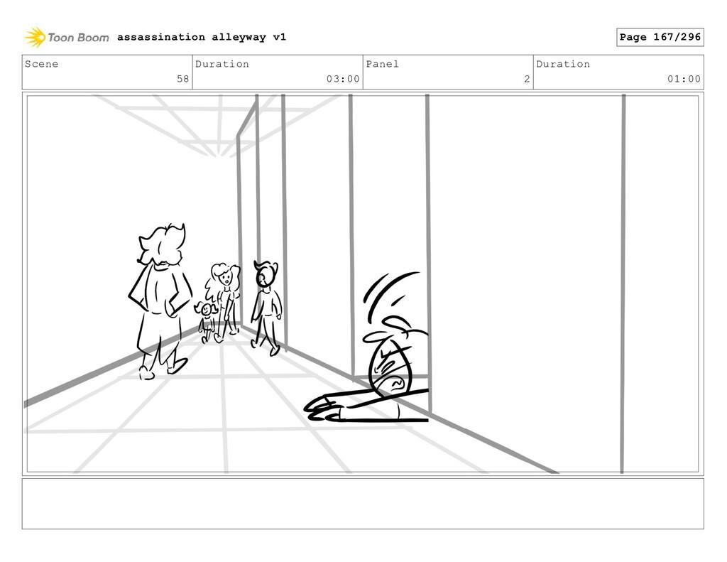 Scene 58 Duration 03:00 Panel 2 Duration 01:00 ...