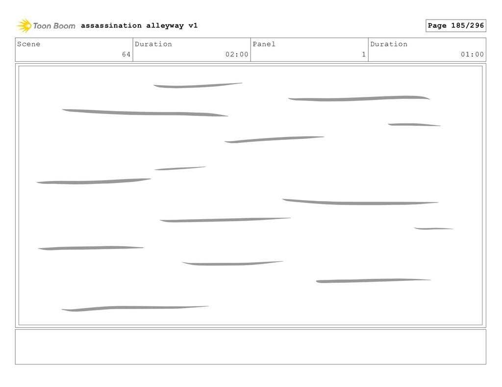 Scene 64 Duration 02:00 Panel 1 Duration 01:00 ...