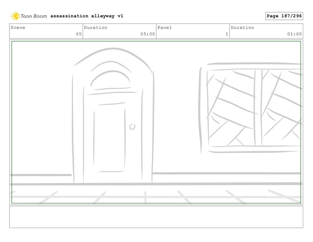 Scene 65 Duration 05:00 Panel 1 Duration 01:00 ...