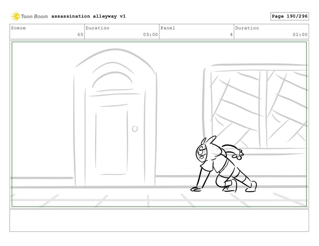 Scene 65 Duration 05:00 Panel 4 Duration 01:00 ...