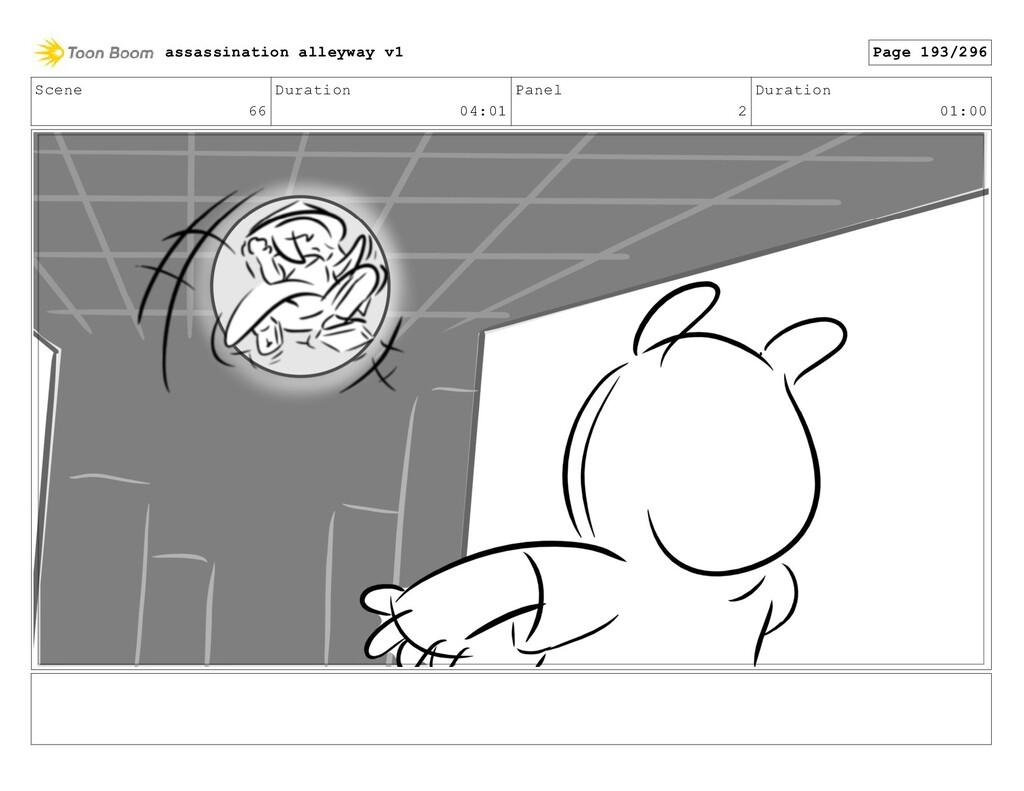 Scene 66 Duration 04:01 Panel 2 Duration 01:00 ...