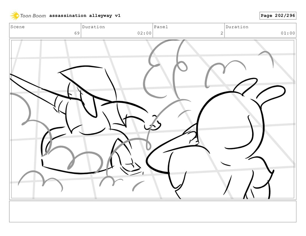 Scene 69 Duration 02:00 Panel 2 Duration 01:00 ...