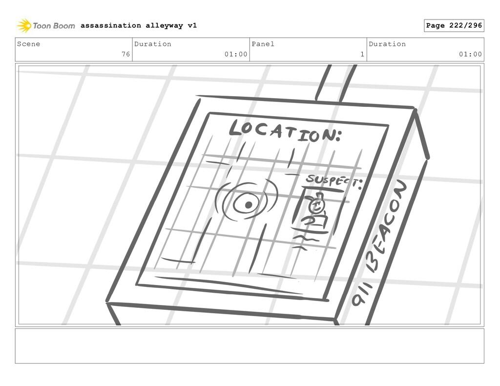Scene 76 Duration 01:00 Panel 1 Duration 01:00 ...