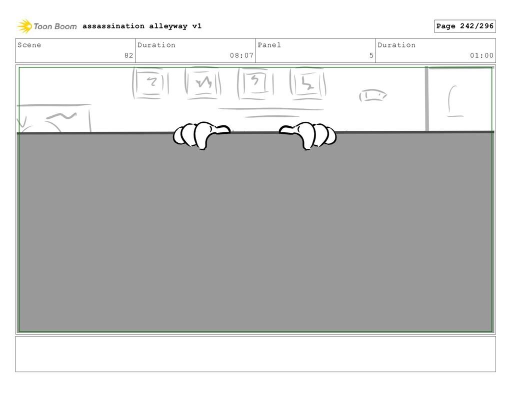 Scene 82 Duration 08:07 Panel 5 Duration 01:00 ...