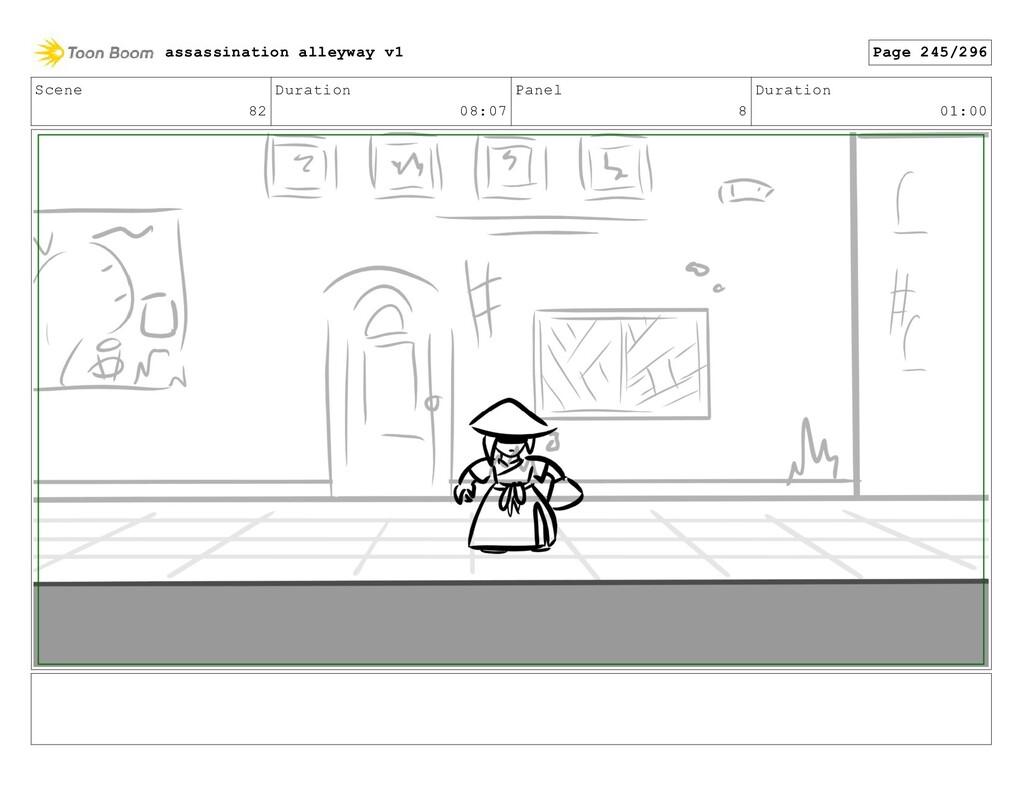 Scene 82 Duration 08:07 Panel 8 Duration 01:00 ...