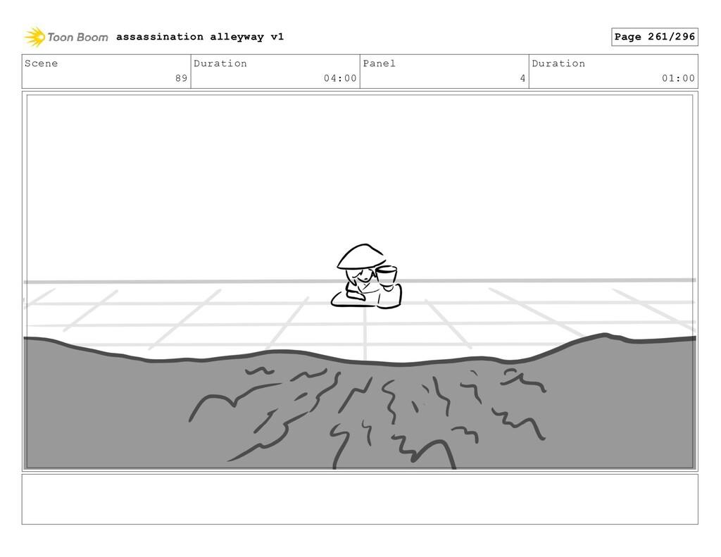 Scene 89 Duration 04:00 Panel 4 Duration 01:00 ...