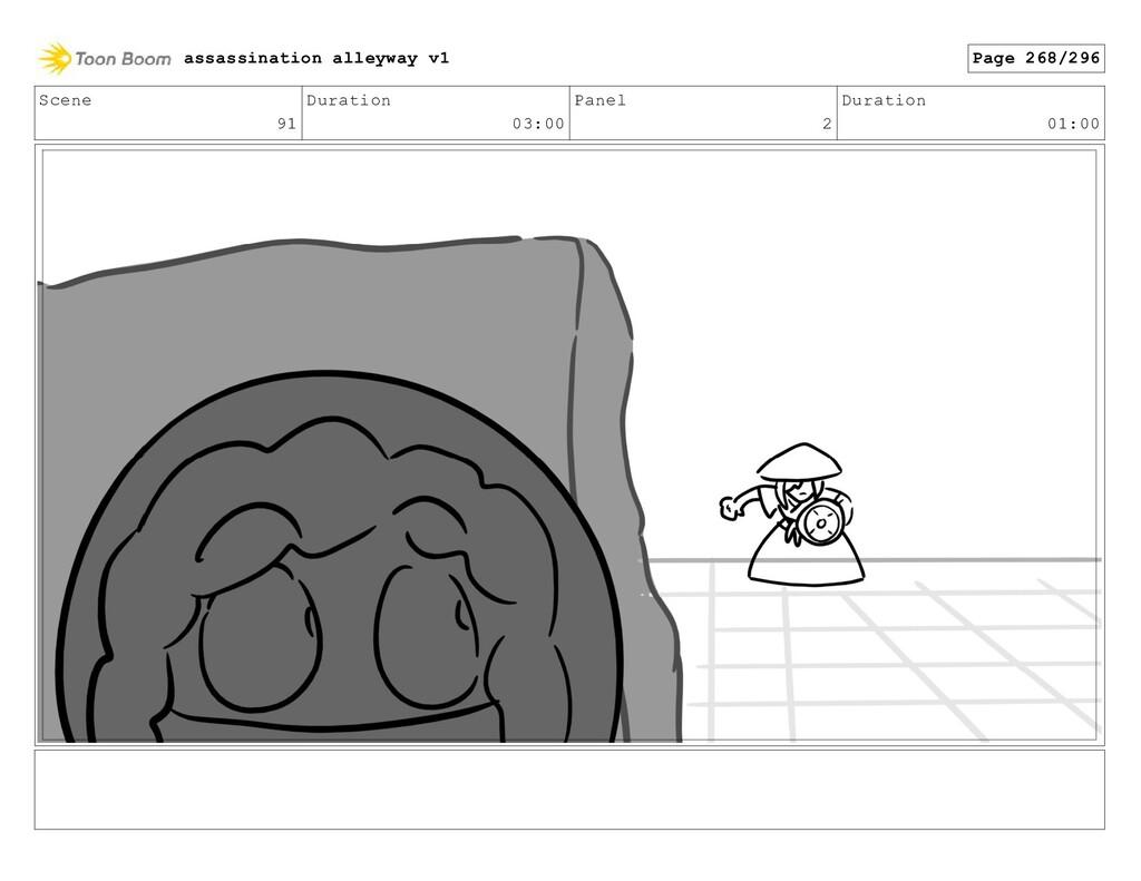 Scene 91 Duration 03:00 Panel 2 Duration 01:00 ...