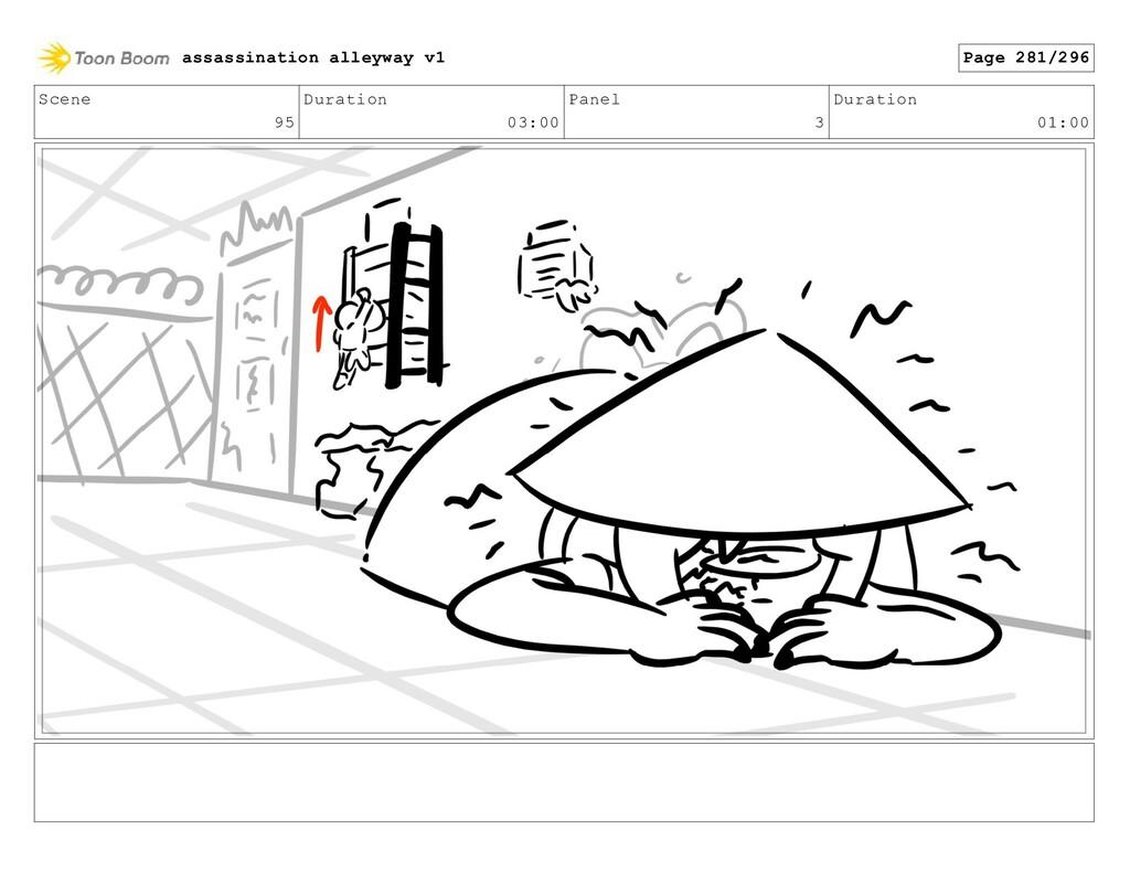 Scene 95 Duration 03:00 Panel 3 Duration 01:00 ...
