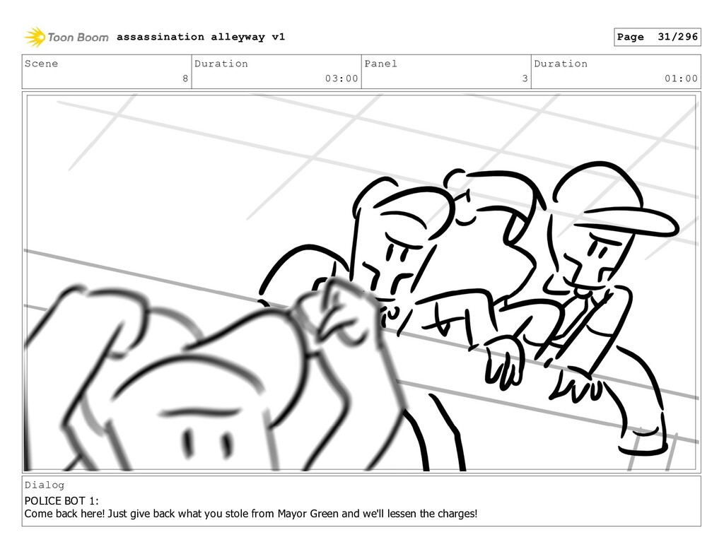 Scene 8 Duration 03:00 Panel 3 Duration 01:00 D...