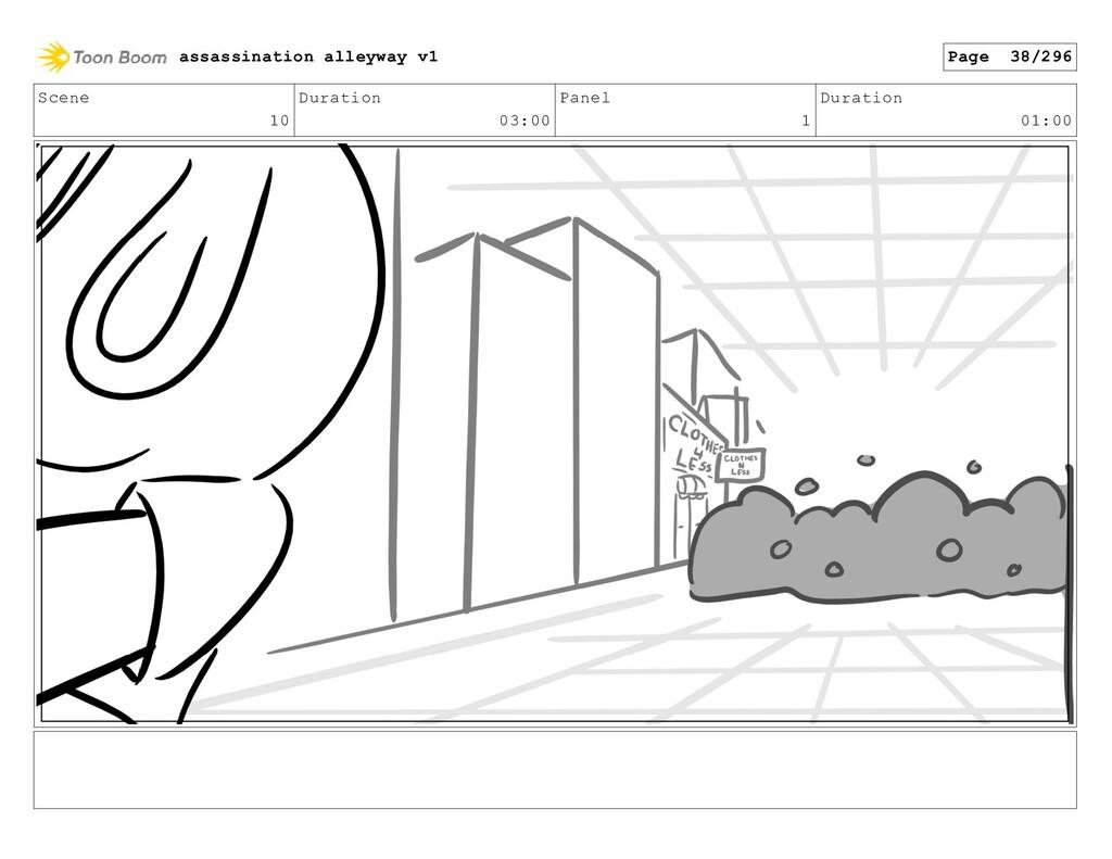 Scene 10 Duration 03:00 Panel 1 Duration 01:00 ...