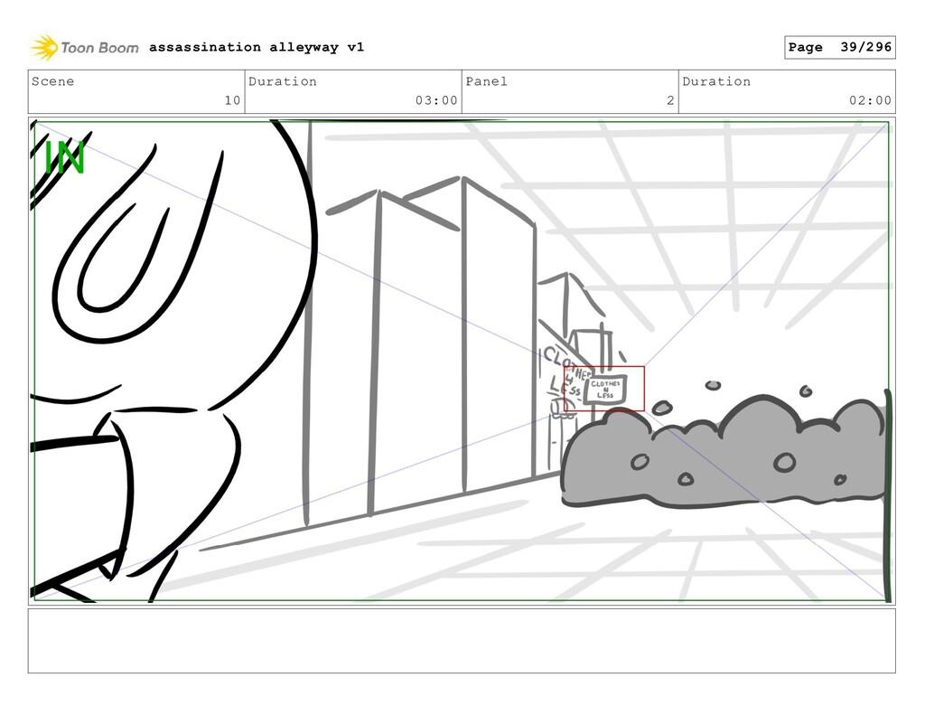 Scene 10 Duration 03:00 Panel 2 Duration 02:00 ...
