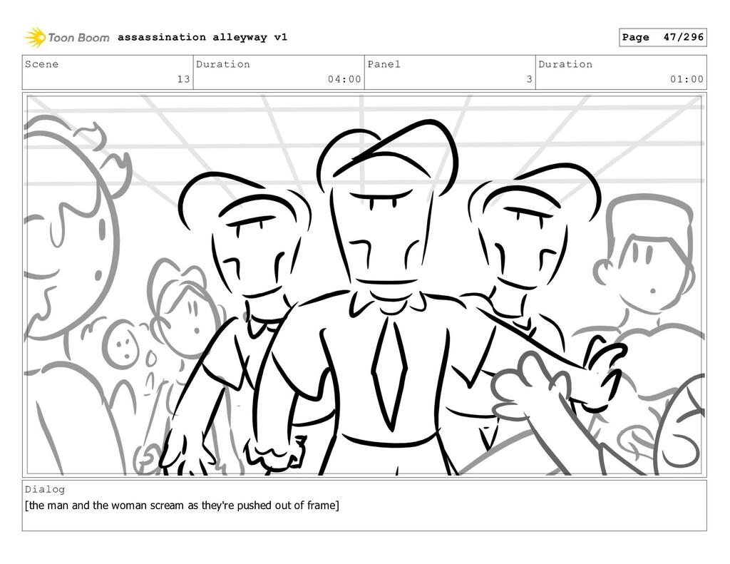 Scene 13 Duration 04:00 Panel 3 Duration 01:00 ...