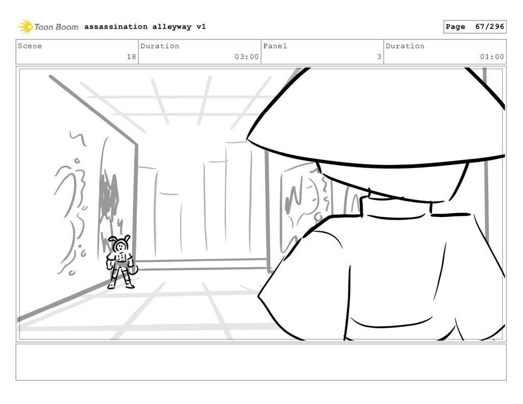 Scene 18 Duration 03:00 Panel 3 Duration 01:00 ...