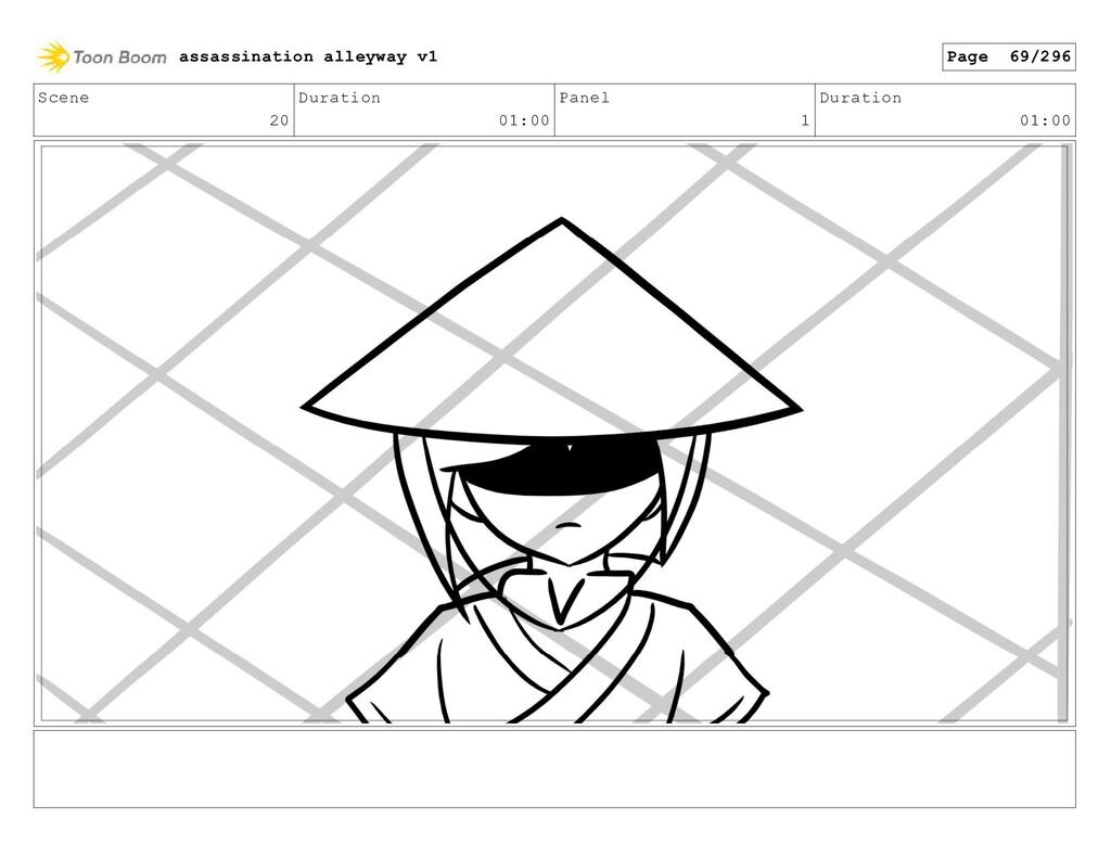 Scene 20 Duration 01:00 Panel 1 Duration 01:00 ...