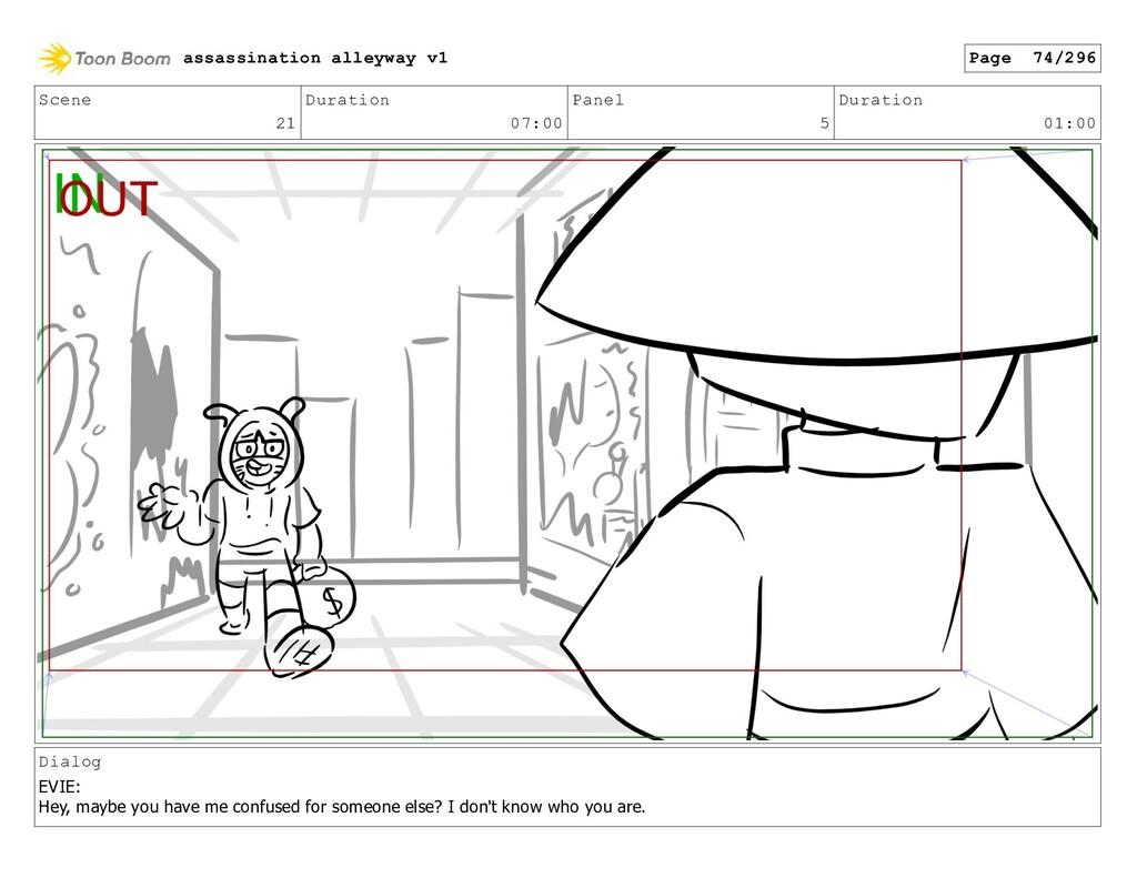 Scene 21 Duration 07:00 Panel 5 Duration 01:00 ...