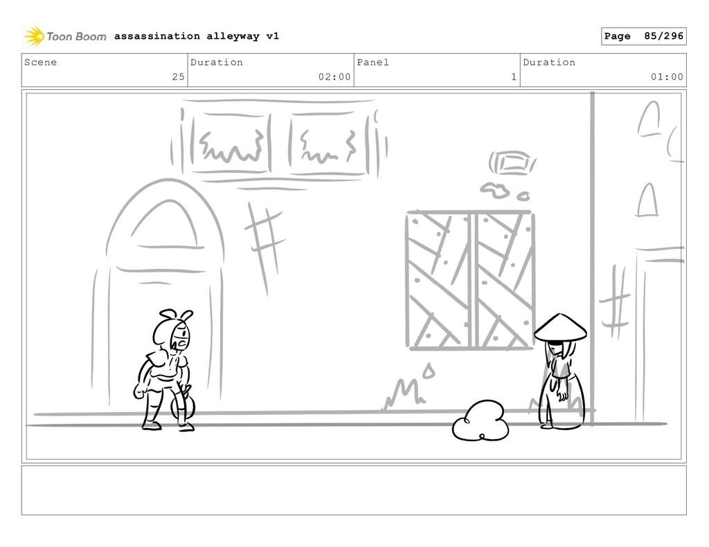 Scene 25 Duration 02:00 Panel 1 Duration 01:00 ...