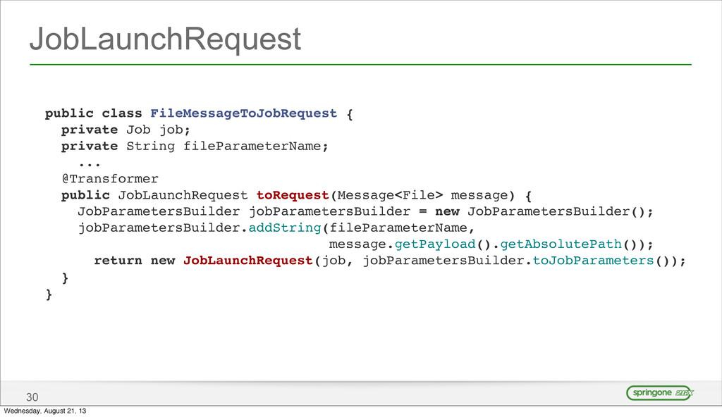 JobLaunchRequest 30 public class FileMessageToJ...